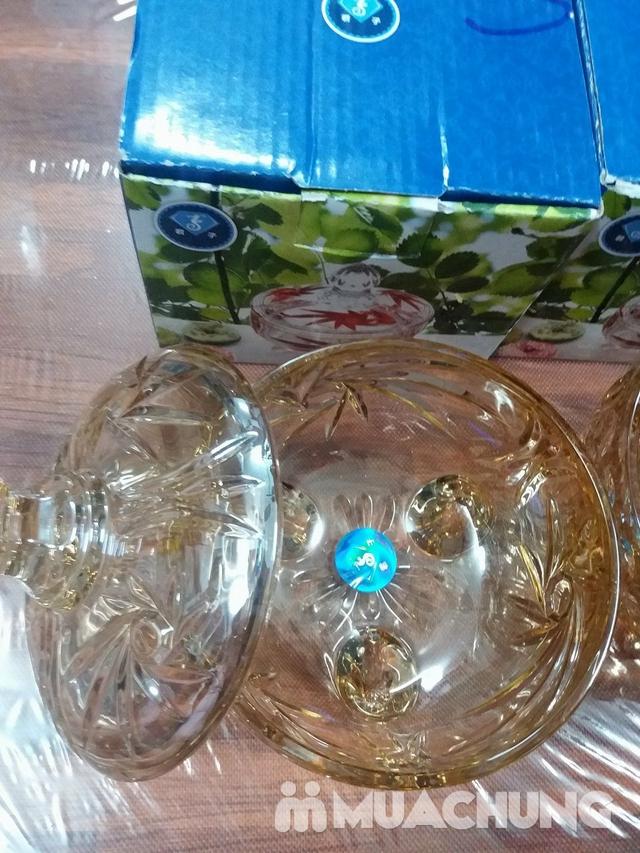 2 hũ thủy tinh đựng mứt vàng (704V) - 2