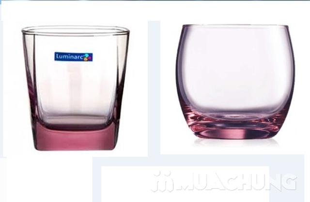 Bộ 6 cốc màu lùn Luminarc (tròn/vuông) - 4