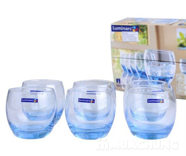 Bộ 6 cốc màu lùn Luminarc (tròn/vuông) - 2