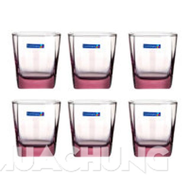 Bộ 6 cốc màu lùn Luminarc (tròn/vuông) - 5