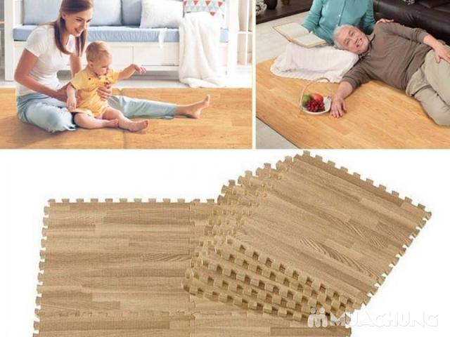 Thảm xốp vân gỗ Âu Lạc 40x40cm (9 miếng) - 2