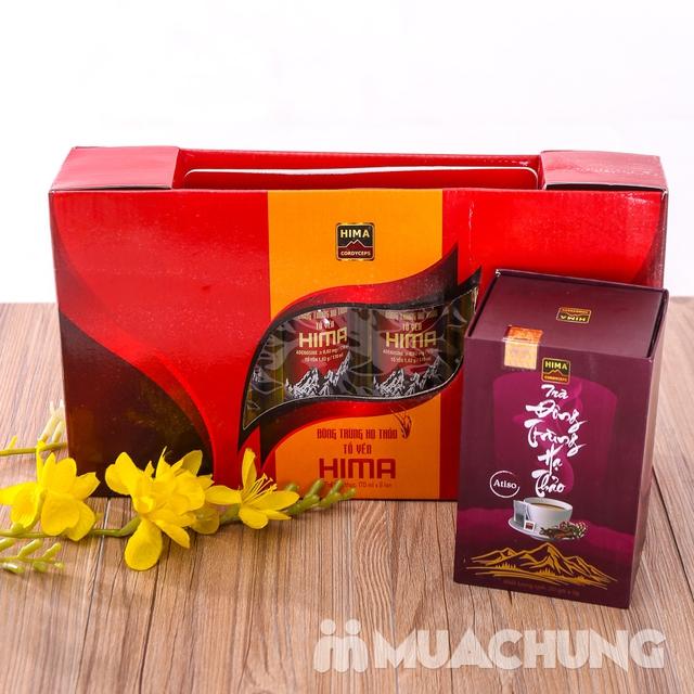 6 lon nước yến đông trùng hạ thảo + trà HIMA   - 10