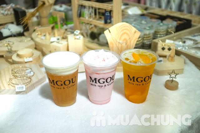 3 cốc trà sữa tùy chọn + 3 loại topping tại MGOU - 8