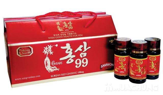 Hộp 10 chai nước uống hồng sâm 99 NK Hàn Quốc - 8