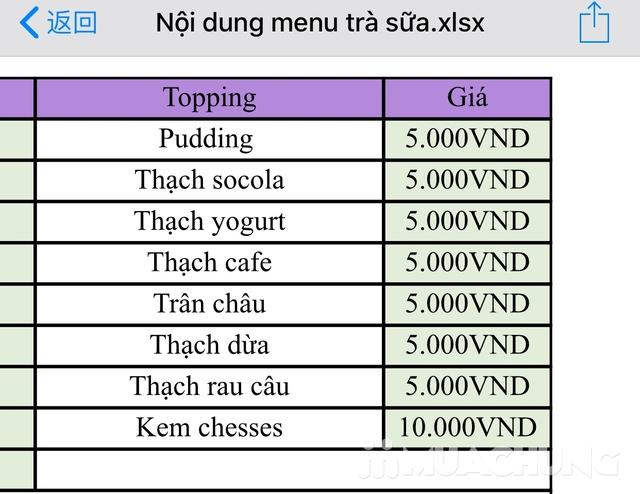 3 cốc trà sữa tùy chọn + 3 loại topping tại MGOU - 3
