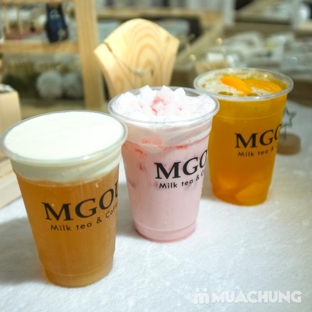 3 cốc trà sữa tùy chọn + 3 loại topping tại MGOU - 1