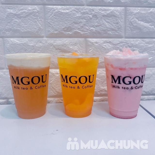 3 cốc trà sữa tùy chọn + 3 loại topping tại MGOU - 4