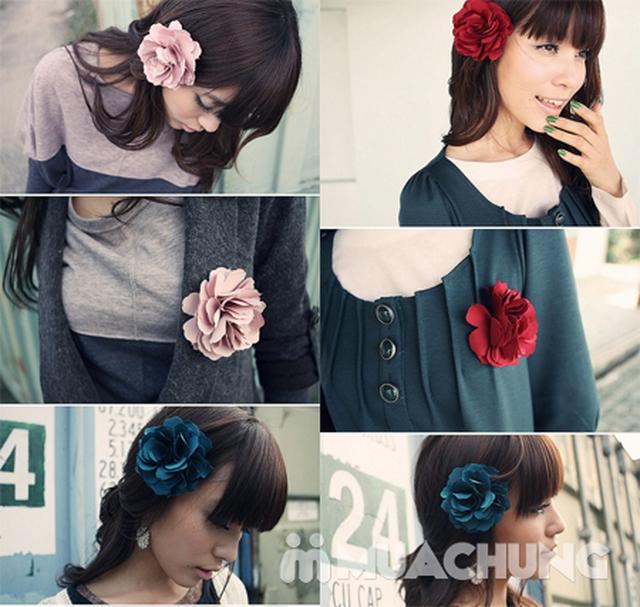 Hộp dây buộc tóc + hoa cài áo handmade xinh xắn - 22