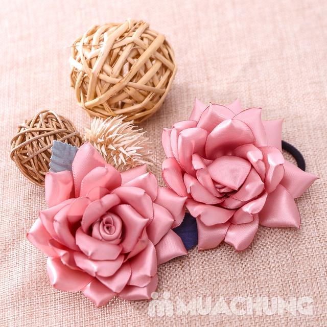 Hộp dây buộc tóc + hoa cài áo handmade xinh xắn - 12