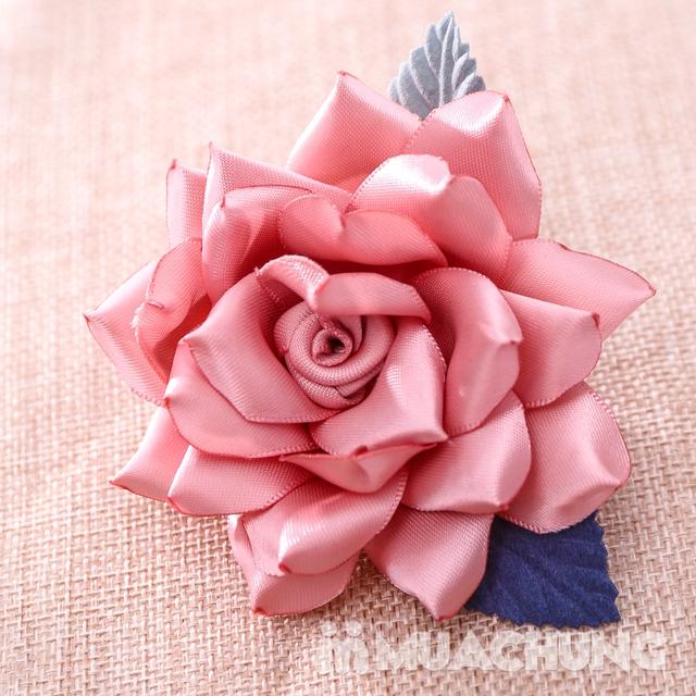 Hộp dây buộc tóc + hoa cài áo handmade xinh xắn - 14