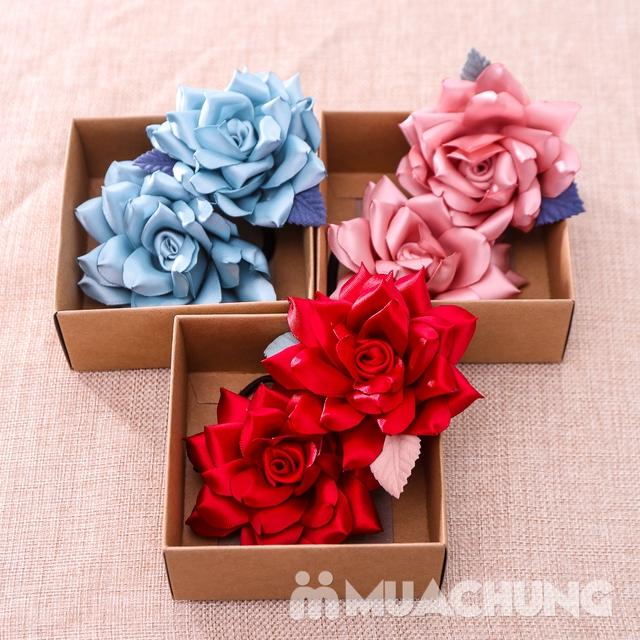 Hộp dây buộc tóc + hoa cài áo handmade xinh xắn - 20