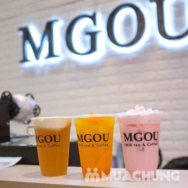 3 cốc trà sữa tùy chọn + 3 loại topping tại MGOU - 5