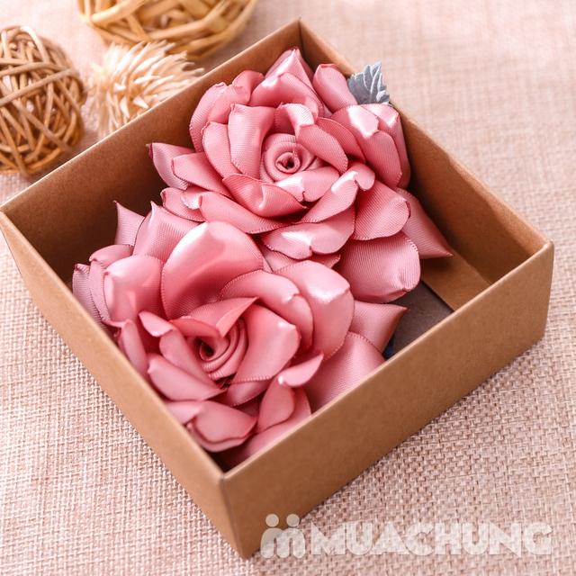 Hộp dây buộc tóc + hoa cài áo handmade xinh xắn - 11