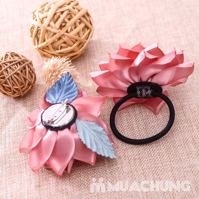 Hộp dây buộc tóc + hoa cài áo handmade xinh xắn - 13