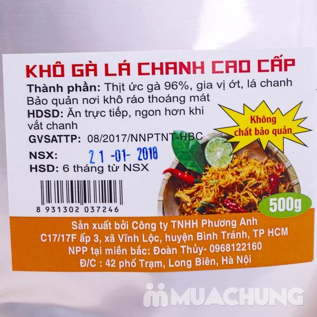 02 gói gà khô là chanh xé cay cao cấp 500g/Gói - 15
