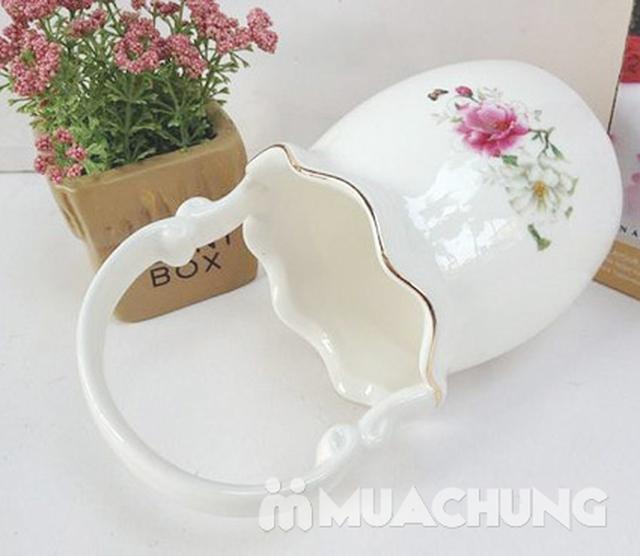 02 ống cắm thìa dĩa hình giỏ hoa bằng sứ - 3