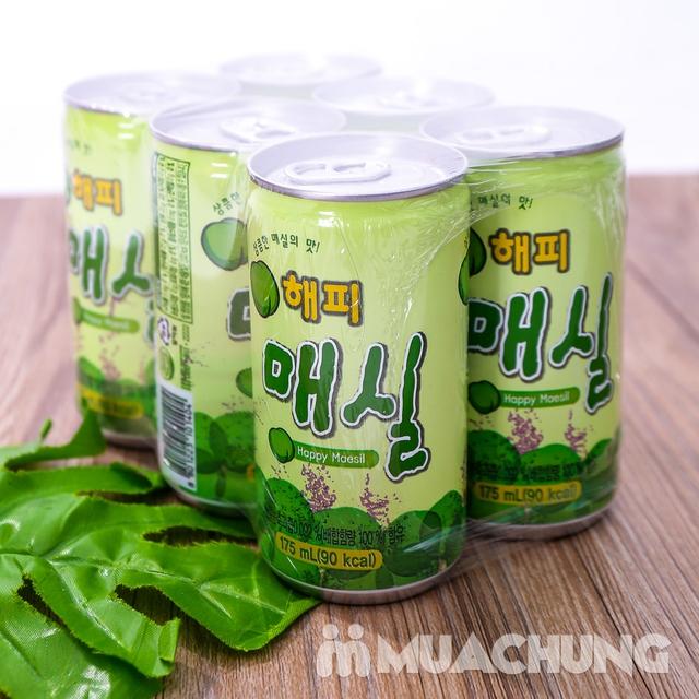 Set 6 lon nước mơ nhập khẩu Hàn Quốc 175ml/ lon  - 7