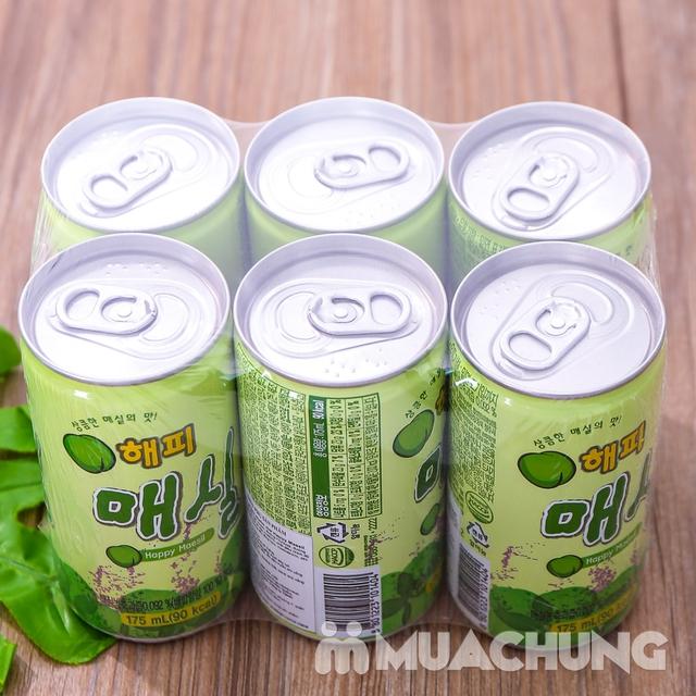 Set 6 lon nước mơ nhập khẩu Hàn Quốc 175ml/ lon  - 6