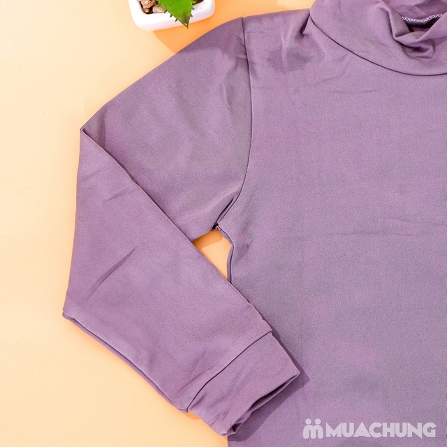 Combo 3 áo giữ nhiệt lót nỉ cho bé size 1-4 - 7