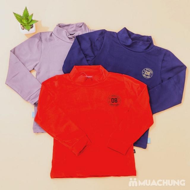 Combo 3 áo giữ nhiệt lót nỉ cho bé size 1-4 - 8