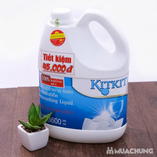 Nước rửa chén KitKit nhập khẩu 100% Thái Lan 3.6L - 8