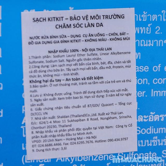 Nước rửa chén KitKit nhập khẩu 100% Thái Lan 3.6L - 11