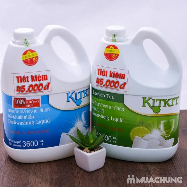 Nước rửa chén KitKit nhập khẩu 100% Thái Lan 3.6L - 7