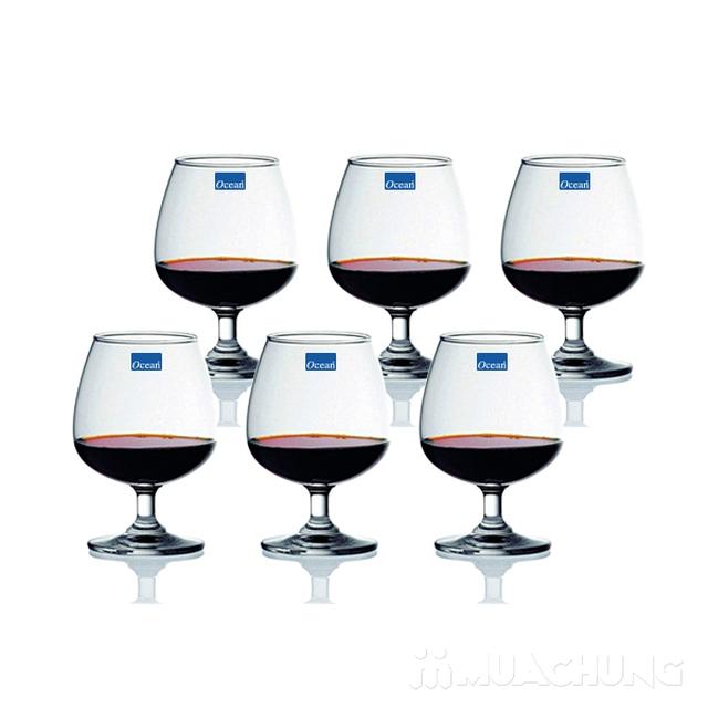 Bộ 6 ly rượu bầu thủy tinh Ocean - 2