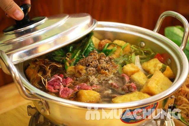 Set lẩu riêu cua bắp bò sườn sụn+món ăn kèm cho 3N - 3
