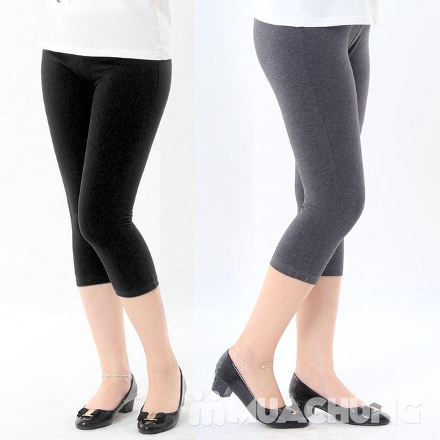 2 quần legging lửng mềm mại, thoáng mát chào hè - 7