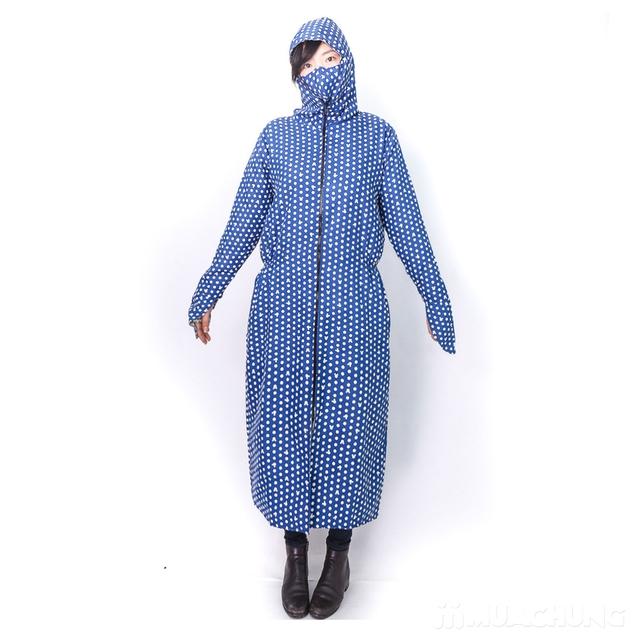 Váy chống nắng toàn thân mặc 2 mặt kèm khẩu trang - 13