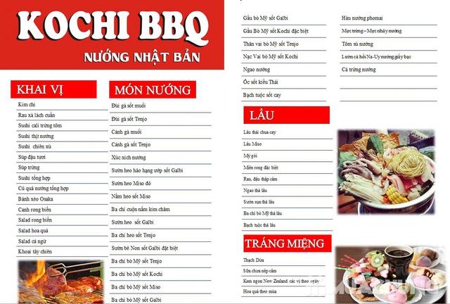 Buffet nướng full thịt & hải sản Menu VIP KochiBBQ - 1