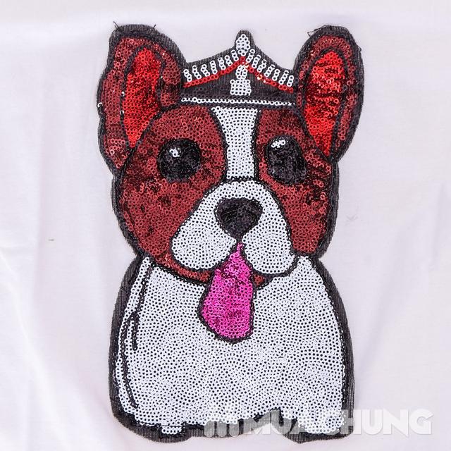Áo phông cotton đính hình cún trẻ trung, xinh yêu  - 10