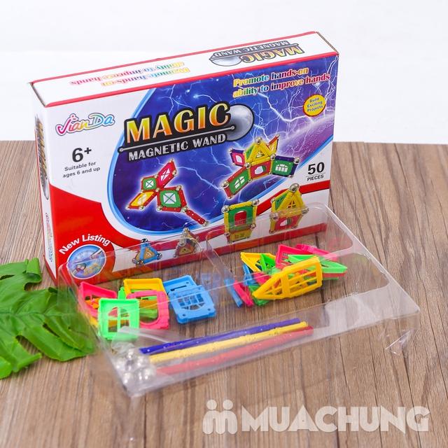 Bồ đồ chơi nam châm lắp ghép 50 chi tiết cho bé - 10