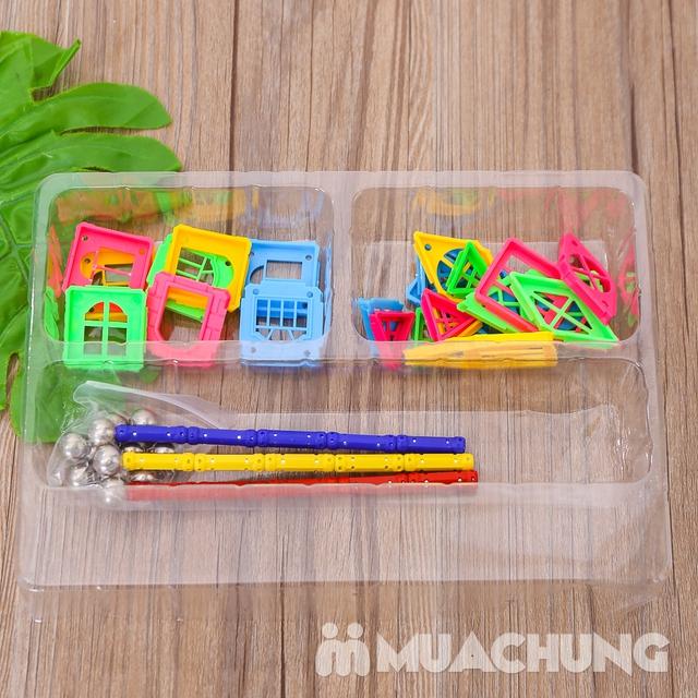 Bồ đồ chơi nam châm lắp ghép 50 chi tiết cho bé - 13