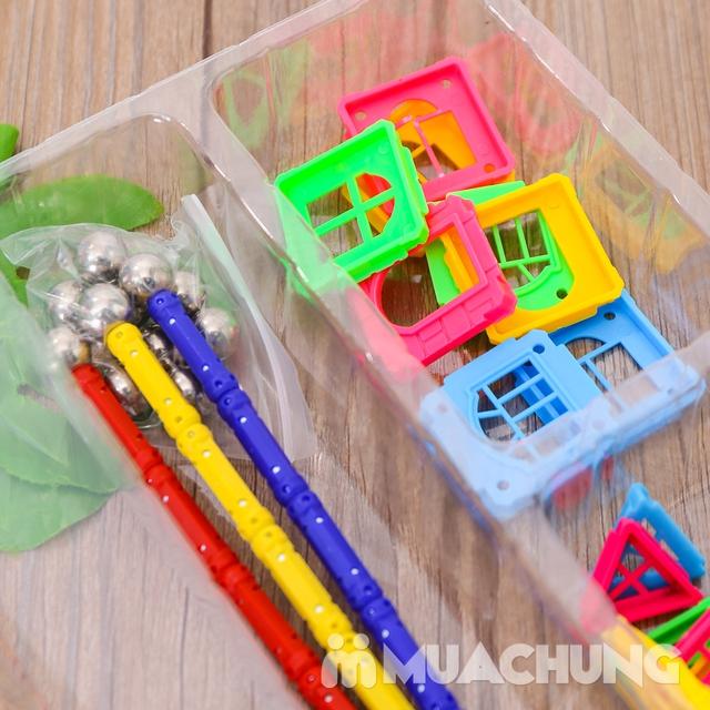 Bồ đồ chơi nam châm lắp ghép 50 chi tiết cho bé - 12
