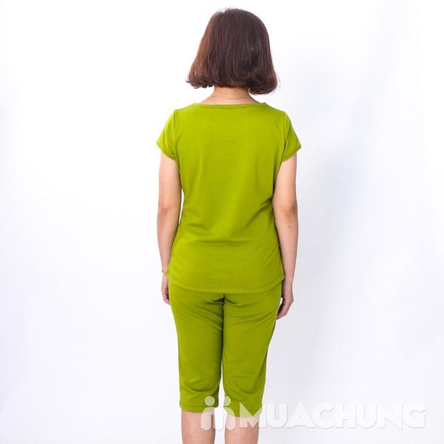 Bộ mặc nhà cotton dây buộc cổ áo nhiều màu-hàng VN - 8