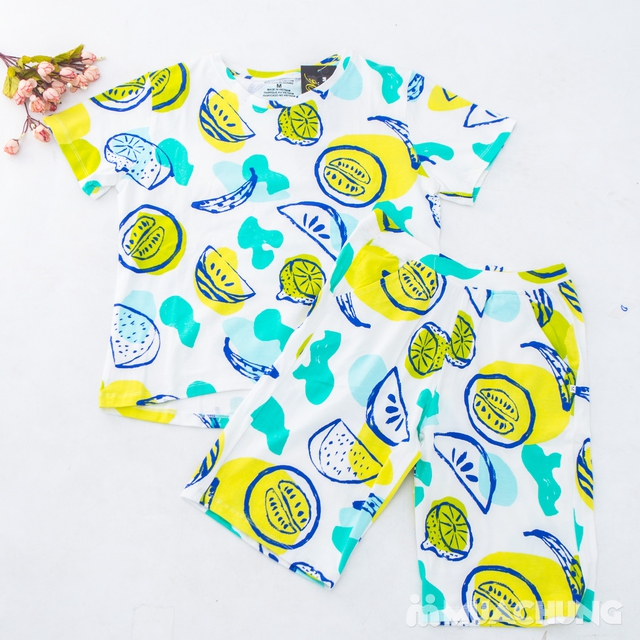 Bộ mặc nhà nhiều họa tiết chất cotton cho bạn gái - 10