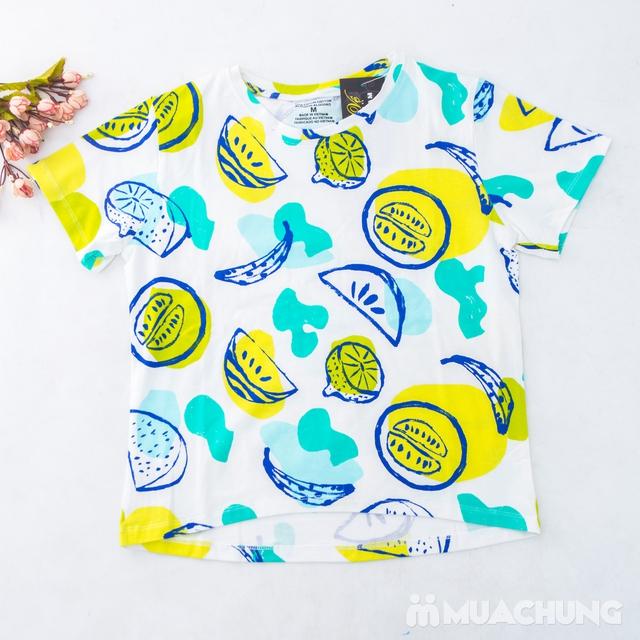 Bộ mặc nhà nhiều họa tiết chất cotton cho bạn gái - 11