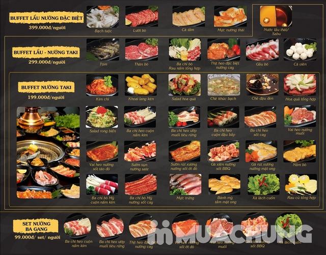 Buffet Nướng menu 199K NH Nhật Bản TakiTaki Hotpot - 1