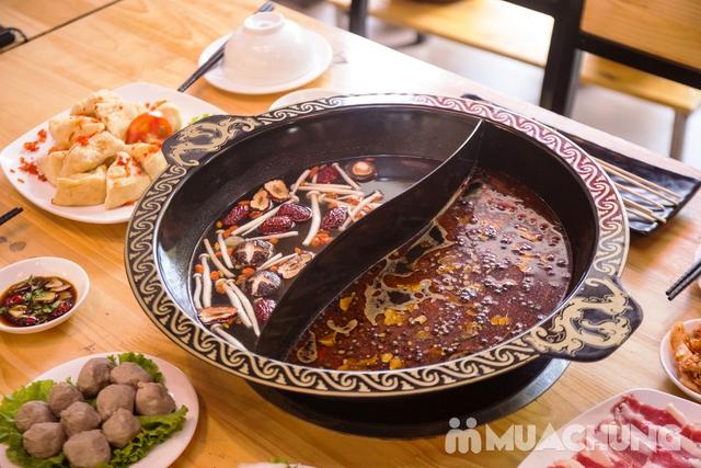 Lẩu uyên ương 2 ngăn + các món ăn kèm hấp dẫn 2N Nhà hàng Phong Quán - 9