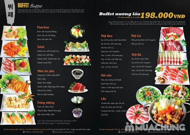 Buffet nướng & lẩu Tengcho Hàn Quốc - Menu 198k - 54