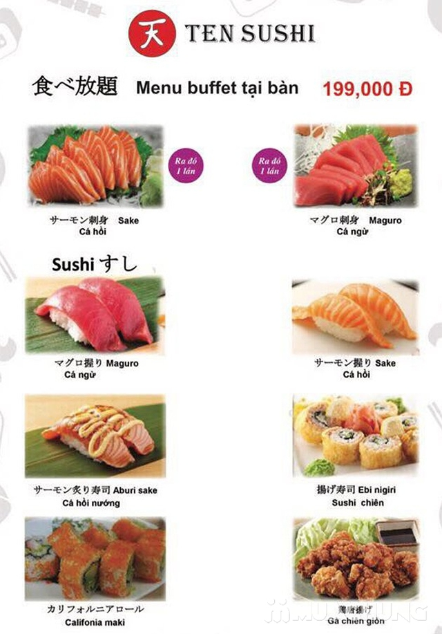 TEN Sushi - Buffet Nhật Bản chuẩn vị menu 199k  - 32
