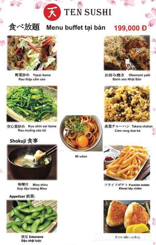 TEN Sushi - Buffet Nhật Bản chuẩn vị menu 199k  - 31