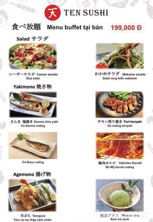 TEN Sushi - Buffet Nhật Bản chuẩn vị menu 199k  - 30