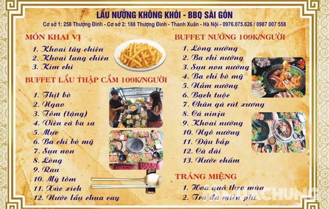 Buffet Nướng Hoặc Lẩu Ăn Thả Ga - Nhà Hàng Lẩu Nướng Sài Gòn - 40