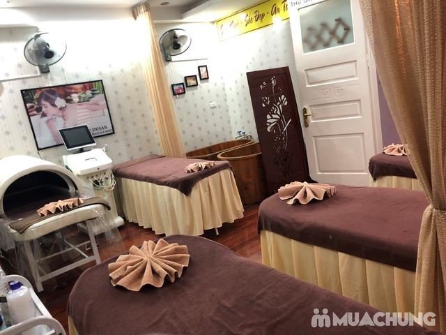 Xông hơi thảo dược, xông khô đá muối & massage body đá nóng thư giãn 90' Dr. ĐNT DUSAN Spa & Clinic - 11