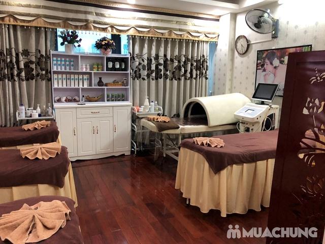Xông hơi thảo dược, xông khô đá muối & massage body đá nóng thư giãn 90' Dr. ĐNT DUSAN Spa & Clinic - 9