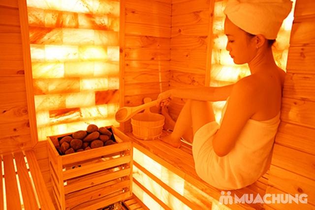 Xông hơi thảo dược, xông khô đá muối & massage body đá nóng thư giãn 90' Dr. ĐNT DUSAN Spa & Clinic - 3