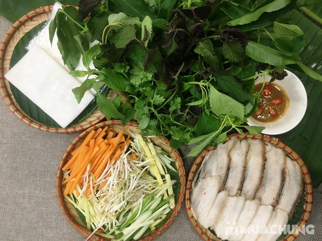 Set Bánh tráng cuốn thịt heo + Gà bó xôi + Bún nêm tại Nhà hàng Tam Kỳ Quán - Lý Thái Tổ - 6